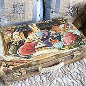 """Корзины ручной работы. Ярмарка Мастеров - ручная работа """"Сказки лисьего леса"""", чемодан, для игрушек. Handmade."""