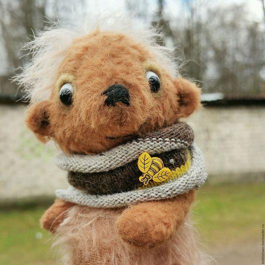 Мишки Тедди ручной работы. Ярмарка Мастеров - ручная работа. Купить Шурик (12.5 см)  Тедди кто-то ...ООАК. Handmade.