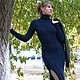 """Платья ручной работы. Ярмарка Мастеров - ручная работа. Купить Платье """"Оренбургские морозы - 2"""". Handmade. Тёмно-синий"""