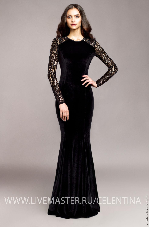 Бело черное вечернее платье
