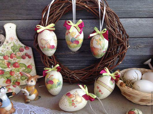 Яйца-подвески пасхальные Пасхальные Мотивы декупаж.Яйцо пасхальное.Яйцо на Пасху.Пасхальное яйцо.Яйцо ручной работы.Яйцо сувенирное.Пасхальный набор из яиц.Пасхальные украшения.Пасхальный декор