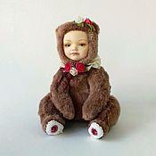 """Куклы и игрушки ручной работы. Ярмарка Мастеров - ручная работа Тедди-долл """"мишка-розочка"""". Handmade."""