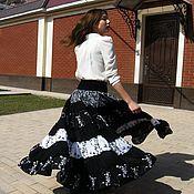 Одежда handmade. Livemaster - original item THE FLOOR-LENGTH SKIRT, TIERED: