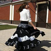 Одежда handmade. Livemaster - original item THE FLOOR-LENGTH SKIRT, TIERED: