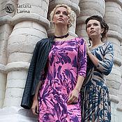 Одежда ручной работы. Ярмарка Мастеров - ручная работа Распродажа! Трикотажное платье в пол, длинное платье в сиреневой гамме. Handmade.
