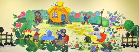 """Детская ручной работы. Ярмарка Мастеров - ручная работа. Купить """"Добро пожаловать !"""", """"Benvenuto !"""". Handmade. Разноцветный, грибы"""