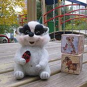 """Куклы и игрушки ручной работы. Ярмарка Мастеров - ручная работа Барсук """"Шалунишка"""". Handmade."""