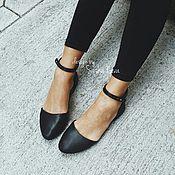 Обувь ручной работы handmade. Livemaster - original item Ballet shoes on the genuine leather strap. Handmade.