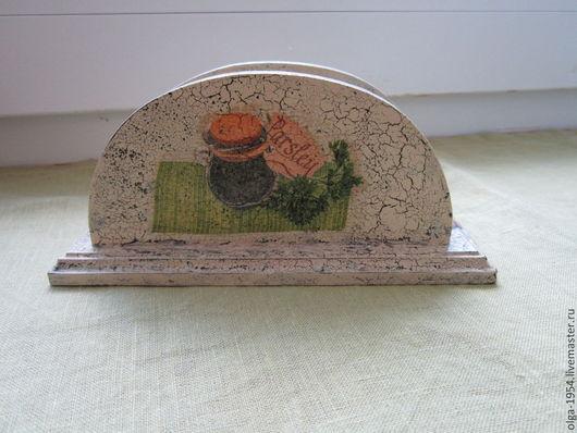 """Кухня ручной работы. Ярмарка Мастеров - ручная работа. Купить Салфетница """"Моя любимая кухня"""". Handmade. Бежевый, салфетница, чай"""