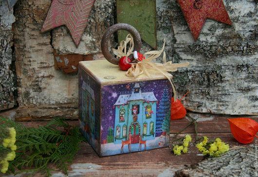 """Корзины, коробы ручной работы. Ярмарка Мастеров - ручная работа. Купить """"Сказочный домик"""" -баночка для чая, орешкой, леденцов.... Handmade."""