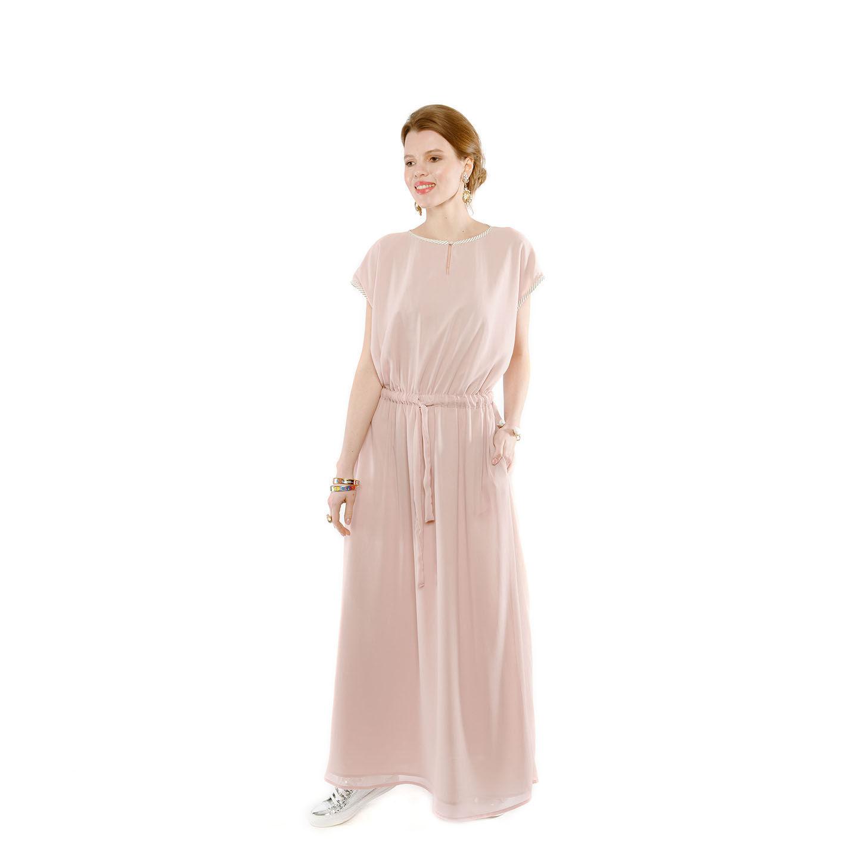 Кремовое греческое платье