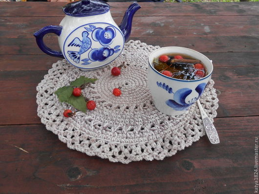 """Кухня ручной работы. Ярмарка Мастеров - ручная работа. Купить Салфетка  """"Теплая осень"""".... Handmade. Разноцветный, кантри стиль"""