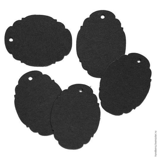 Упаковка ручной работы. Ярмарка Мастеров - ручная работа. Купить Черные бирки 6 х 4,5 см. Handmade.