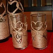 Свадебный салон ручной работы. Ярмарка Мастеров - ручная работа Стаканы для сока Western. Handmade.