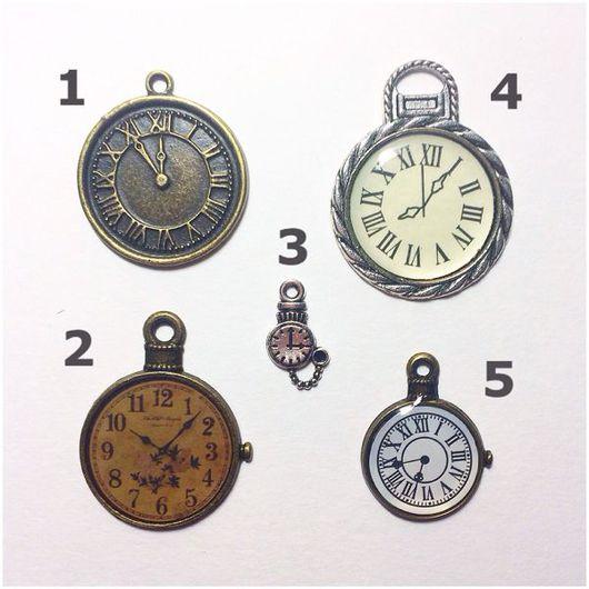 """Открытки и скрапбукинг ручной работы. Ярмарка Мастеров - ручная работа. Купить № 2,4 НЕТ!Подвески """"Часы"""" (5 шт на выбор). Handmade."""