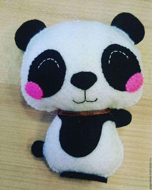 Игрушки животные, ручной работы. Ярмарка Мастеров - ручная работа. Купить Панда из фетра. Handmade. Чёрно-белый, фетр