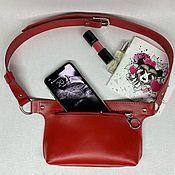 Поясная сумка ручной работы. Ярмарка Мастеров - ручная работа Женская поясная сумка из натуральной кожи. Handmade.