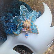 """Brooches handmade. Livemaster - original item Brooch """"Blue Orchid """". Handmade."""