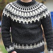 Одежда ручной работы. Ярмарка Мастеров - ручная работа Мужской свитер МС1. Handmade.