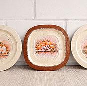 Посуда ручной работы. Ярмарка Мастеров - ручная работа Новые старые тарелки. Набор декоративных тарелок.. Handmade.
