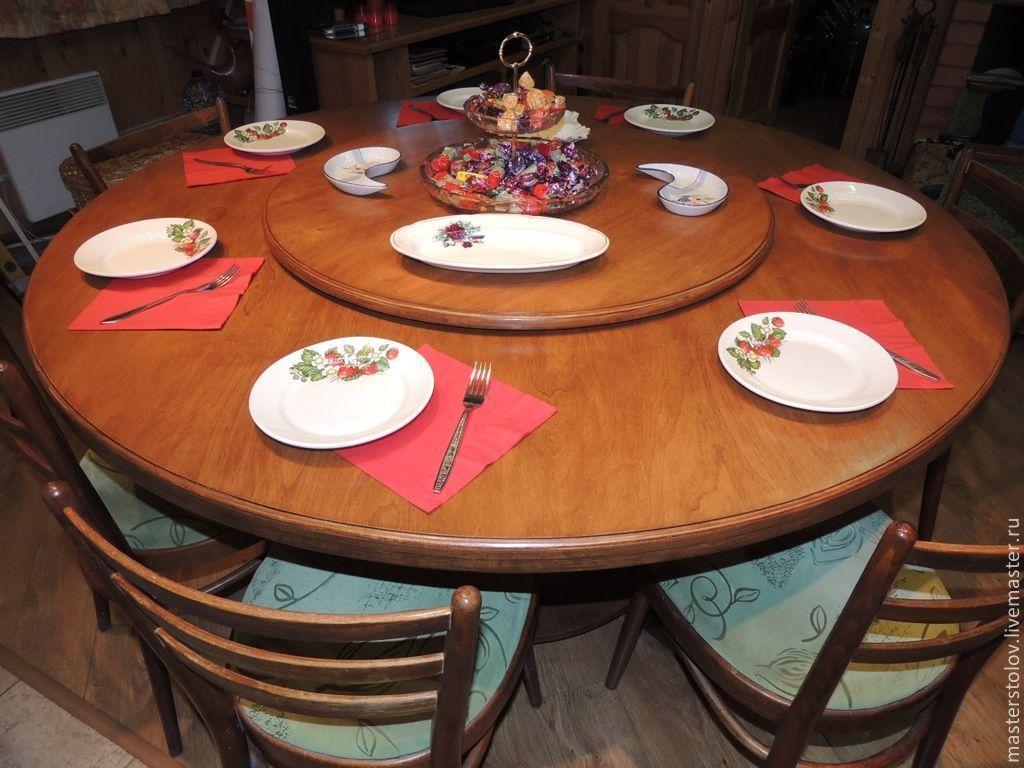 Как сделать большой круглый стол своими руками