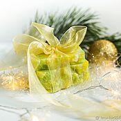 Косметика ручной работы handmade. Livemaster - original item Natural soap smells like Christmas Than New year green yellow. Handmade.