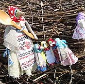 """Куклы и игрушки ручной работы. Ярмарка Мастеров - ручная работа Куклы """"Сорока ворона  кашу варила...."""" 6 шт.. Handmade."""