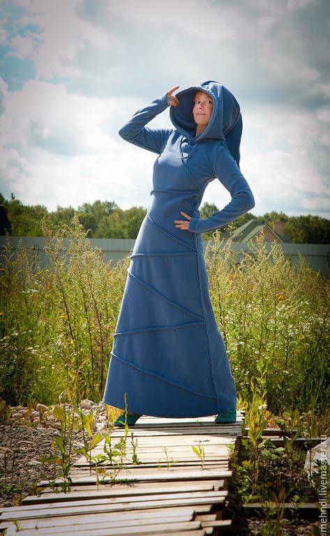 """Платья ручной работы. Ярмарка Мастеров - ручная работа. Купить Платье """"Серо-голубое Озеро"""". Handmade. Голубой, озёрный, природа"""