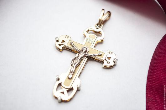 Украшения для мужчин, ручной работы. Ярмарка Мастеров - ручная работа. Купить Крест православный облегченный. Handmade. Крестик, крест православный