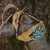 Украшения handmade. Livemaster - original item Bracelet-necklace made of leather