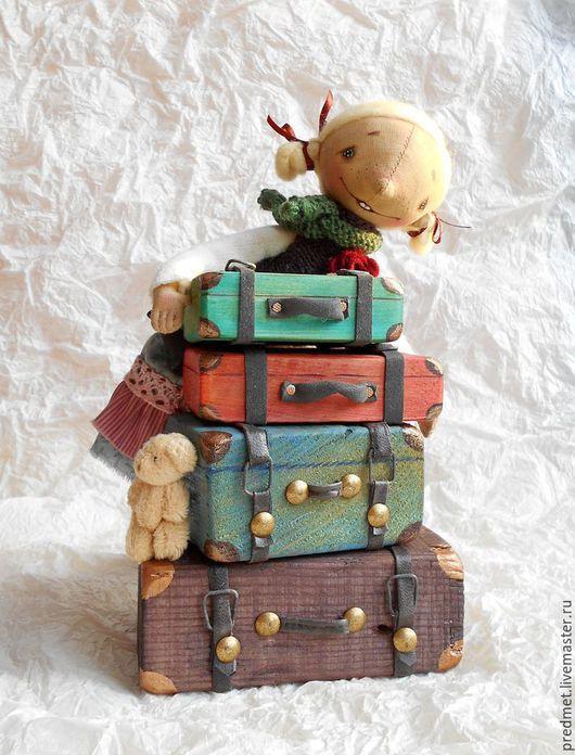 Коллекционные куклы ручной работы. Ярмарка Мастеров - ручная работа. Купить Чемоданное настроение. Handmade. Комбинированный, девочка, корица
