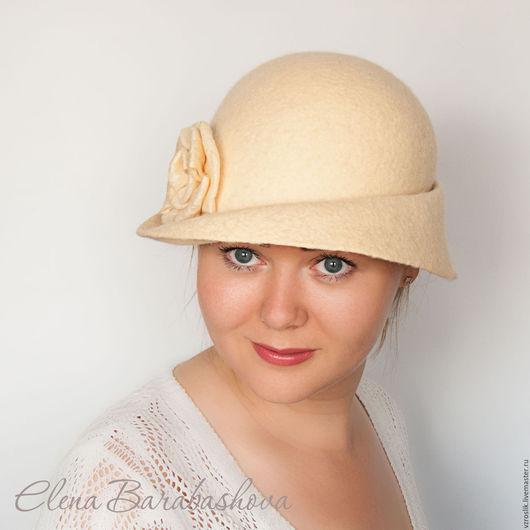 """Шляпы ручной работы. Ярмарка Мастеров - ручная работа. Купить Шляпка """"Море из песка"""". Handmade. Желтый, женская шляпка"""