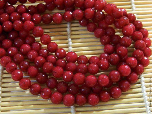 Для украшений ручной работы. Ярмарка Мастеров - ручная работа. Купить Рубин Бразильский натуральный, граненый,шар 8 мм.. Handmade.