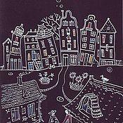 Картины и панно ручной работы. Ярмарка Мастеров - ручная работа Влюбленные в ночь. Handmade.