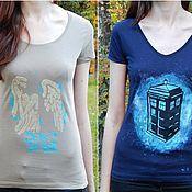 """Одежда ручной работы. Ярмарка Мастеров - ручная работа Футболки по сериалу """"Doctor Who"""". Handmade."""