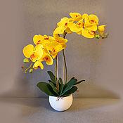 Цветы и флористика ручной работы. Ярмарка Мастеров - ручная работа Желтая орхидея. Handmade.