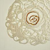 "Украшения handmade. Livemaster - original item Porcelain pendant from the series ""Teneta"". Handmade."