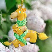 Куклы и игрушки ручной работы. Ярмарка Мастеров - ручная работа Жирафики. Handmade.