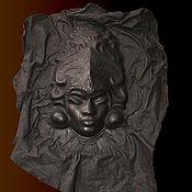 """Картины и панно ручной работы. Ярмарка Мастеров - ручная работа Панно из кожи """"Бог плодородия"""". Handmade."""