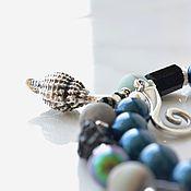 Украшения handmade. Livemaster - original item Necklace with a pendant shell Black pearl. Handmade.