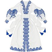 "Одежда handmade. Livemaster - original item White long dress ""Arabian Horse"". Handmade."