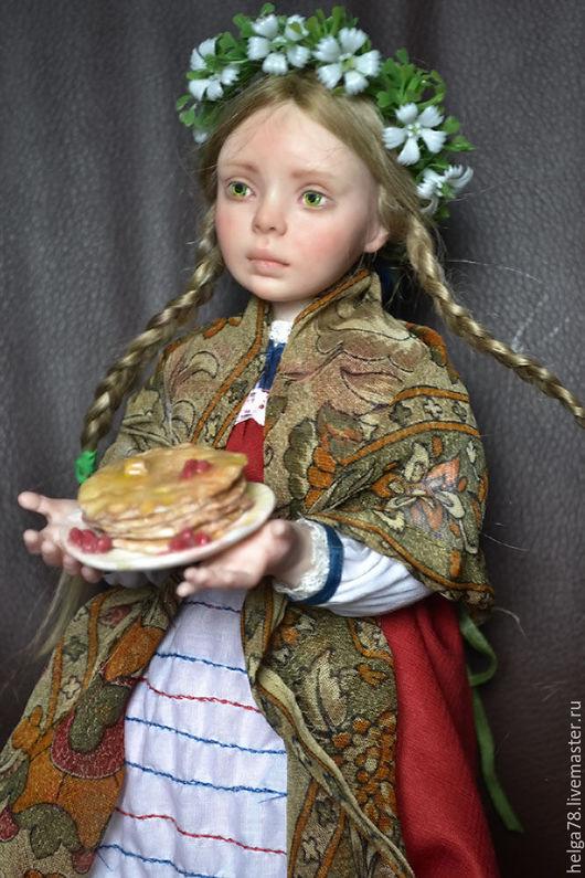 Коллекционные куклы ручной работы. Ярмарка Мастеров - ручная работа. Купить Масленица. Handmade. Ярко-красный