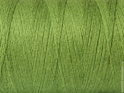 """Другие виды рукоделия ручной работы. Ярмарка Мастеров - ручная работа. Купить Нитки для ткачества """"Хлопко-Лён"""" - лайм.. Handmade."""
