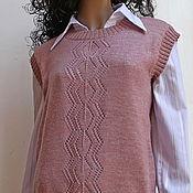 Одежда ручной работы. Ярмарка Мастеров - ручная работа Жилет женский вязаный. Handmade.