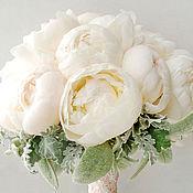 Свадебный салон ручной работы. Ярмарка Мастеров - ручная работа Букет невесты из пионов. Handmade.