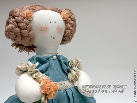 Текстильная кукла из ткани, хлопка. Авторская кукла в подарок на любой случай, 8 Марта. Подарок сувенир для девушки, женщины. Текстильная кукла ручной работы купить