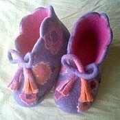 Обувь ручной работы. Ярмарка Мастеров - ручная работа валяные башмачки для девочки,,Колокольчик``. Handmade.