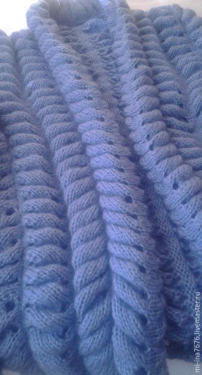 """Кофты и свитера ручной работы. Ярмарка Мастеров - ручная работа. Купить Кардиган """"Азиатский колосок"""". Handmade. Голубой"""