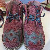 Обувь ручной работы. Ярмарка Мастеров - ручная работа Ботиночки. Войлок. Handmade.