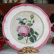 Посуда ручной работы. Ярмарка Мастеров - ручная работа Настенная тарелка Розы. Handmade.